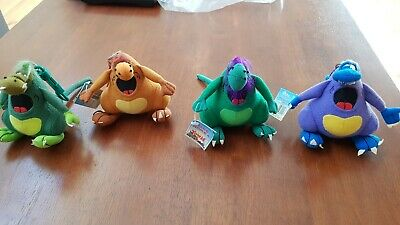 YOWIES Lot of Rare Plush Yowie Soft Toys on Keyrings 4 of the 6