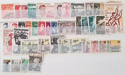 Czechoslovakia Vintage Mint and Used Stamps Collection Lot All Different # 63