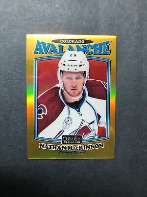 2016-17 OPC Platinum Retro Gold Rainbow #R-17 Nathan MacKinnon 142/149 Rare SP