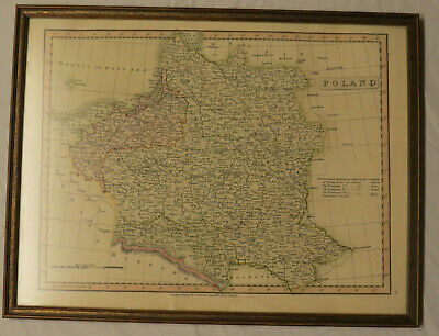 Antique Map of Poland by Charles Smith (1816)
