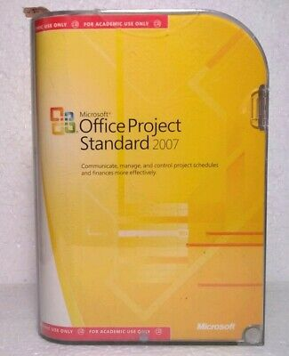 MICROSOFT OFFICE PROJECT Standard 2007 Upgrade, Sealed Retail Box