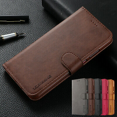 For Huawei P30 Pro Case P30 Retro Magnetic Leather Flip Card Holder Stand Cover