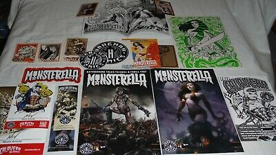 MONSTERELLA (20) piece AUTOGRAPHED K/S collections #1, 2 + Backer Board Art #039