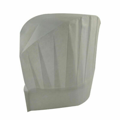 AUStock 24X Once Use Professional Disposable White Paper Chef Hats Kitchen Tools