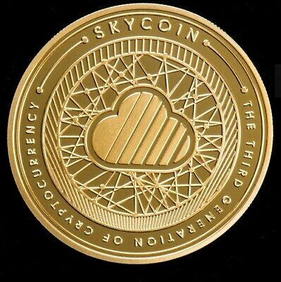 18K Gold Plated Skycoin Collectable Coins