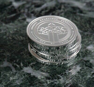 Skywing Commander - One Pure Silver (99.9%) Skycoin Collectable coin