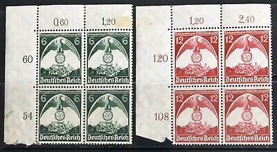 Germany Third Reich 1935 Nuremberg Rally MLH in Blocks of 4