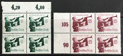 Germany Third Reich 1935 World Jamboree of Hitler Youth MLH in blocks of 4