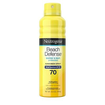 New Neutrogena Beach Defense Oil-free Body Sunscreen Spray SPF 70 6.5 Oz.