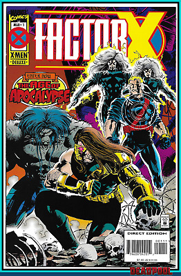 Factor X #1 (1995) 1St Appearance Bedlam Deadpool Movie X-Men Marvel Comics Nm