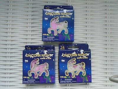 Job Lot Of 3 Unicorn Glow In The Dark Stickers Fun Bedroom Decor Cute Unicorns