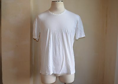 Yves Saint Laurent Ysl White Edgy Raw Overlay Short Sleeves Design T Shirt S Xl