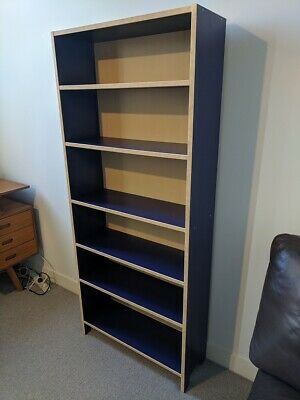 release date: a4048 d6755 IKEA BILLY BOOKCASE - Indigo Blue - Excellent Condition