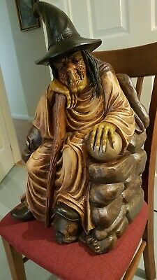 Witch Statue Produced in the 1980's,  Height 25 inches × 43 inches circumference