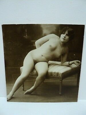 Vintage Carte Photo Erotisme Magnifique Nu  Sepia Annees 1910