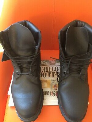 Timberland Premium 6 Inch Genuine Black Leather Upper Men's Boots Size 8.5