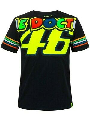 Valentino Rossi VR46 Moto GP DOCTOR 46 Stripes T Shirt Tee MENS - OFFICIAL
