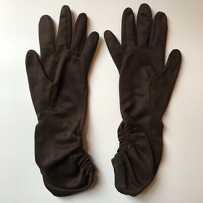 Vintage GLOVES evening 1950s 1960s ladies accessory Size 7 pair of Brown MAMBO