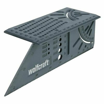 Wolfcraft 3D Mitre Angle Square Rulers Limit Stop Marking Gauge Drill Diameters