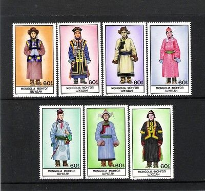 Mongolie (1986) - (7V **Mnh) - Costumes Traditionnels