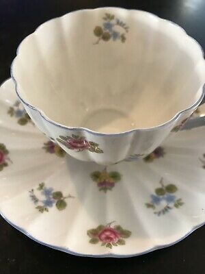Shelley England Saucer Tea Cup Rose,Pansy & Forget Me Not Fine Bone China Ludlow
