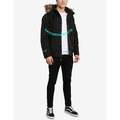 HOLLISTER UOMO ALL Weather Sherpa Foderato Cappotto Giacca a