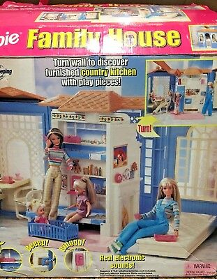 Barbie Family House Playset 21646 Rare Retired 1998 Mattel In Box