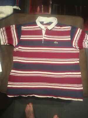 bed1c6ce07 Polo LACOSTE Homme Taille 6 XL Bleu Marine/blanc/rouge Mat Made In FRANCE