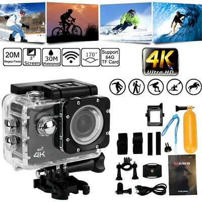 Ultra 4K HD 1080P Waterproof DVR Sports Camera WiFi Cam DV Action Camcorder