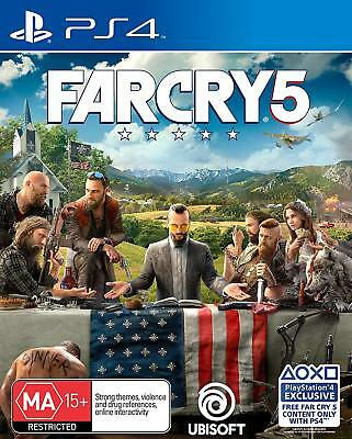 Far Cry 5 PS4 Playstation 4 Brand New Sealed Free Post Australian Stock