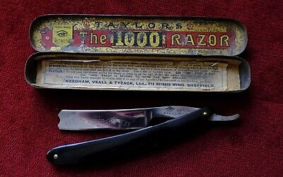 Straight razor shave ready,rare vintage Taylors eye witness 5/8 wedge SHEFFIELD