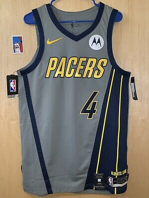 441402abe Victor Oladipo Pacers Nike City Edition Authentic NBA Basketball Jersey Sz  44 M