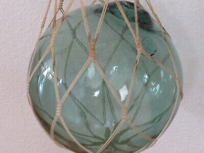 Japanese, Vintage glass fish ball, STAMPED,  is a Large 32-inch Circumference