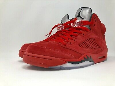 sports shoes 476e8 91c4e NIKE AIR JORDAN Retro V Red Suede Flight Suit Raging Bull ...