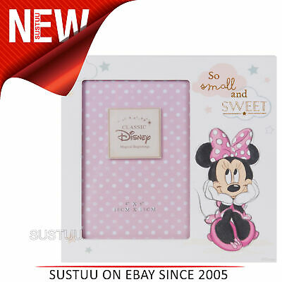 "Disney Magical Beginnings MDF 4"" x 6"" Photo Frame Minnie Mouse│Giftware For Baby"