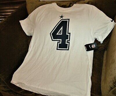 00a9be62abd Dak Prescott jersey t-shirt Dallas Cowboys men's 2XL Nike NEW W TAGS! NFL