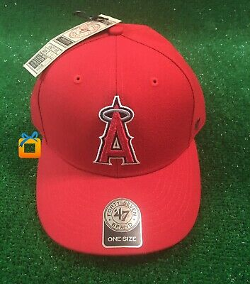 free shipping 3255d 37ded Los Angeles Angels 47 Brand Cap Adjustable Red MVP Hat MLB NEW - 60% off