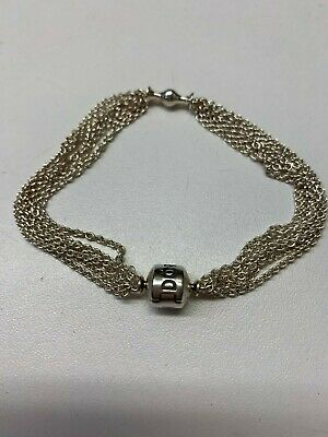 e3943af9d NEW AUTHENTIC PANDORA Silver Moments One-Clip Multi-Chain Bracelet ...