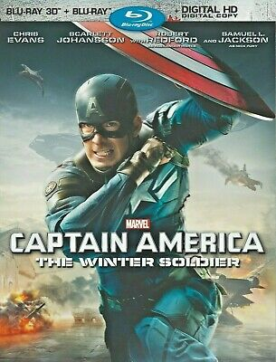 Captain America: Winter Soldier - Disney / Marvel (3D Blu-ray) NO 2D or Digital