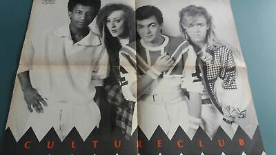 poster 4 pages  david lee roth  ou boy george ,culture club