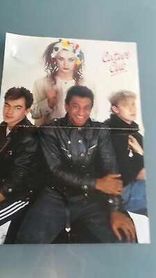 poster 2 pages  boy george ,culture club