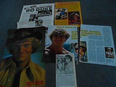 john schneider clippings  the dukes of hazzard + poster
