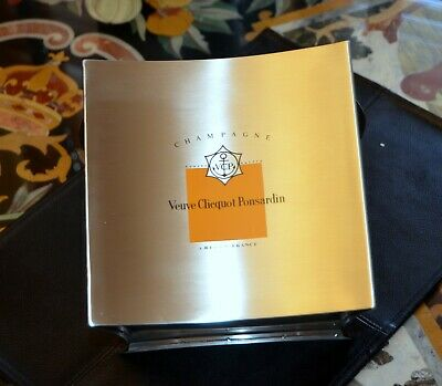 VINTAGE France VEUVE CLICQUOT PONSARDIN CHAMPAGNE STAINLESS STEEL ICE BUCKET