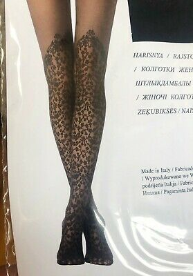 79a5fcc3f21 CALZEDONIA FLORAL OVER-KNEE Effect Tights Pantyhose Sz S M New w ...