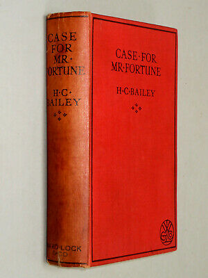 CASE FOR MR. FORTUNE - H C Bailey (1932 First Edition) Short Stories Golden Age