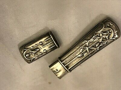 Victorian Sterling Silver needle holder !