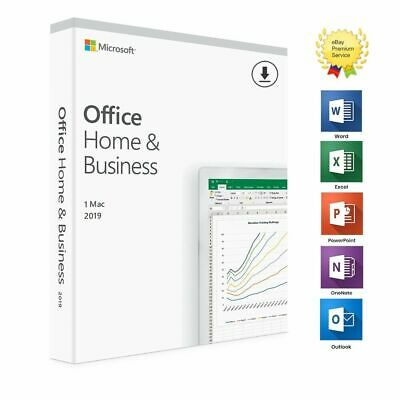 Microsoft Office Home and Business 2019 Mac ⭐ 100% Genuine-Lifetime - multiuser
