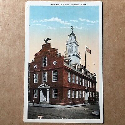 Vintage Old State House Postcard. Boston, Massachusetts Early 1900s