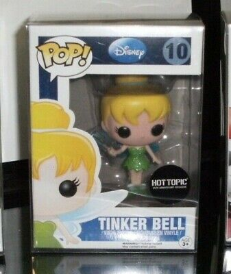 Funko Pop Disney Tinker Bell Hot Topic 25th Anniversary Exclusive # 10 w protect
