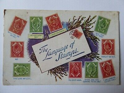 The Language Of Postcards Printed Postcard 1918 Regent Publishing Ltd Mal19/15